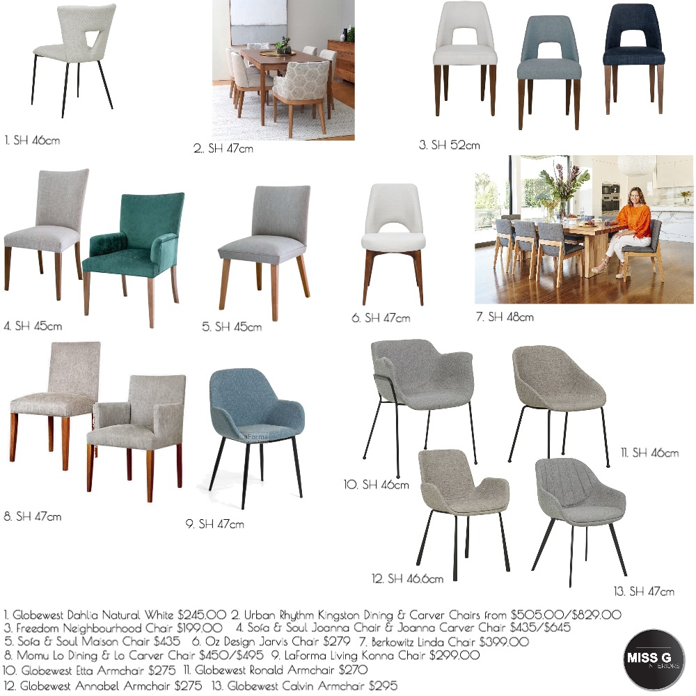 Canterbury Dining Chairs Mood Board by Miss G Interiors on Style Sourcebook