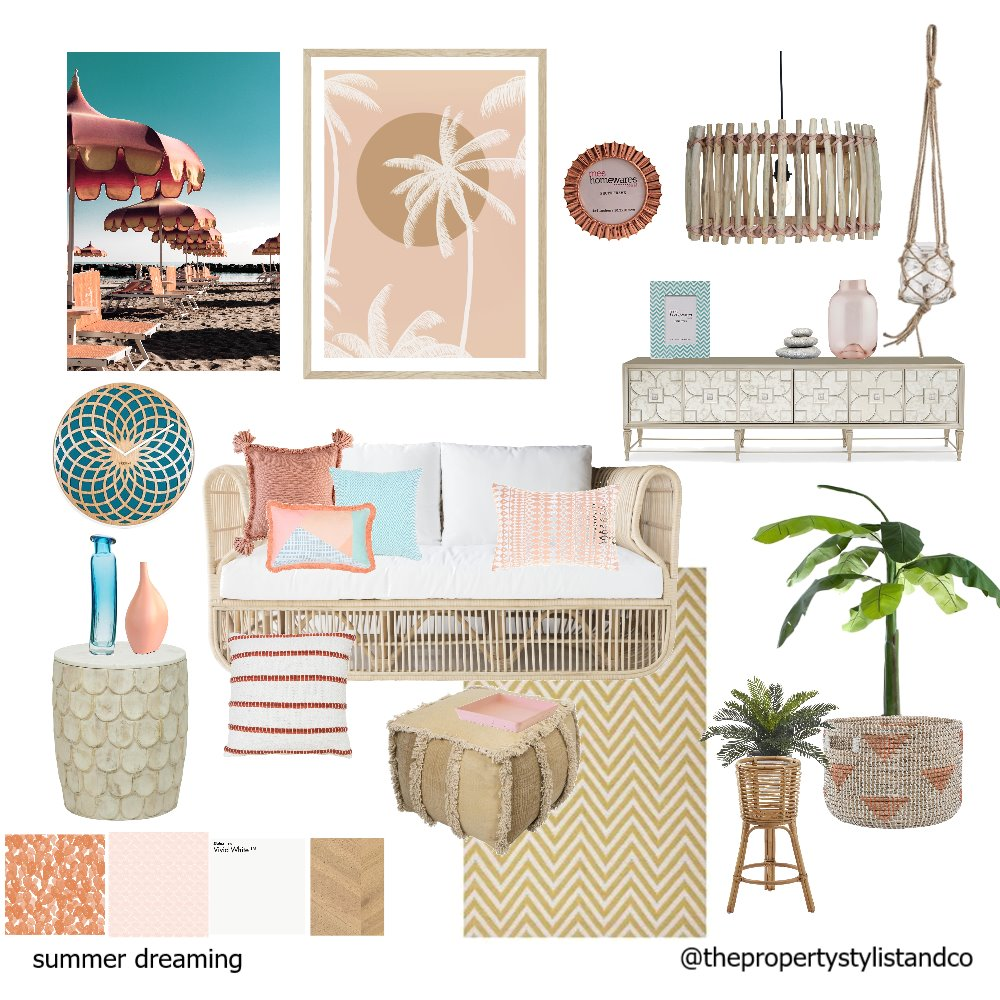 summer dreaming Mood Board by The Property Stylists and Co on Style Sourcebook