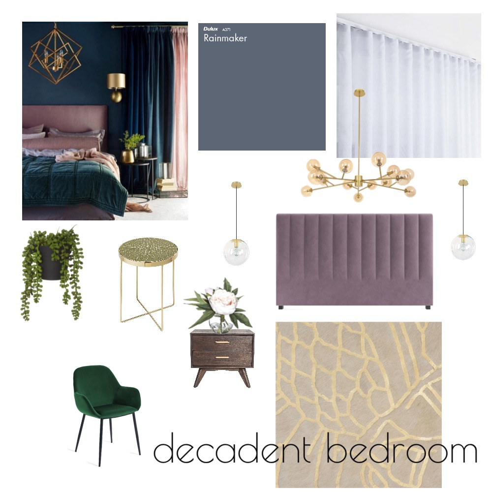 Decandent bedroom Mood Board by tanyajohn82 on Style Sourcebook