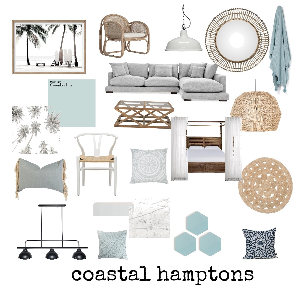 Coastal Hamptons Moodboard Interior Design Mood Board by StyleChic on Style Sourcebook