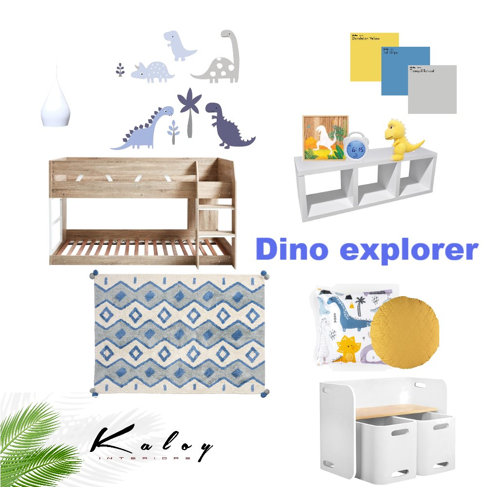 Dino Explorer Mood Board by Kaloy on Style Sourcebook