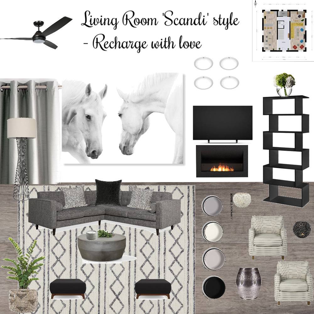 living Room Interior Design Mood Board by c.A on Style Sourcebook
