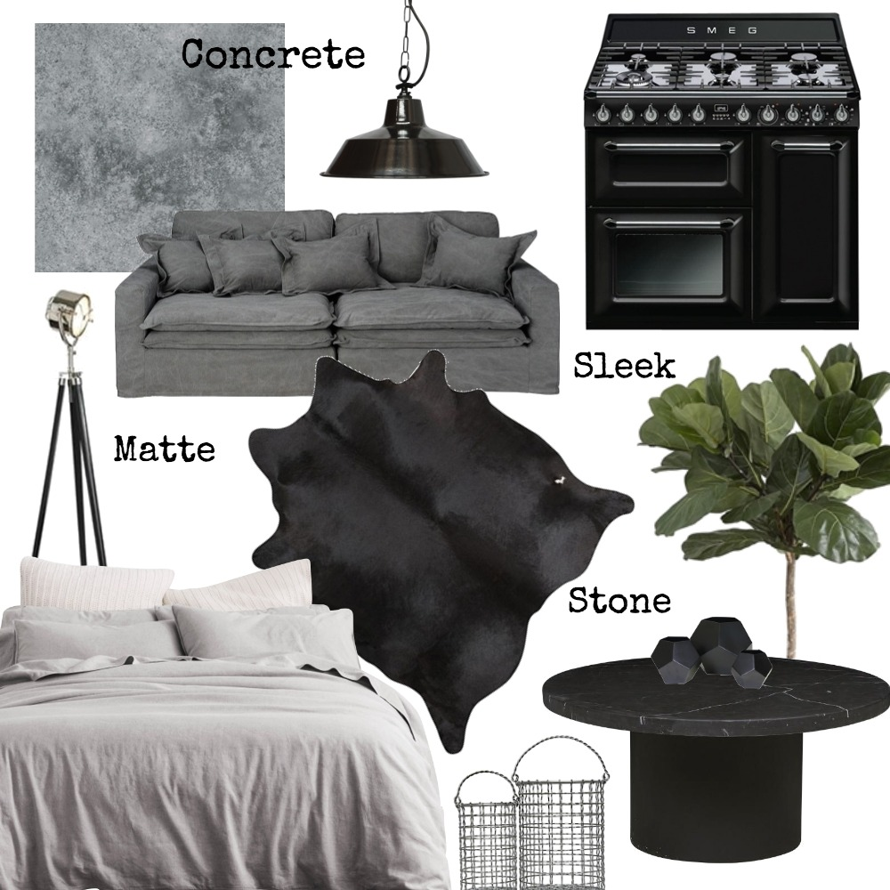 INDUSTRIAL/ BRUTALIST words Mood Board by isabellaparamor on Style Sourcebook