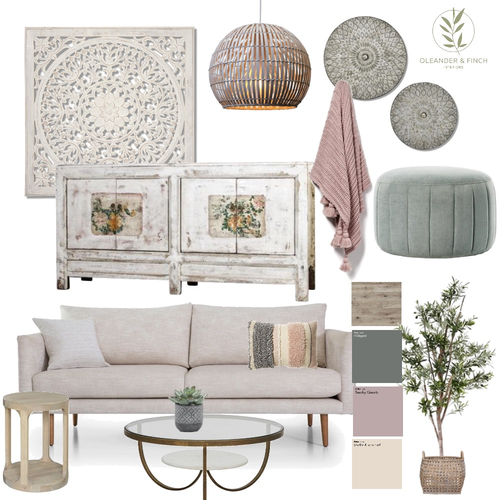 English Rose Mood Board by Oleander & Finch Interiors on Style Sourcebook