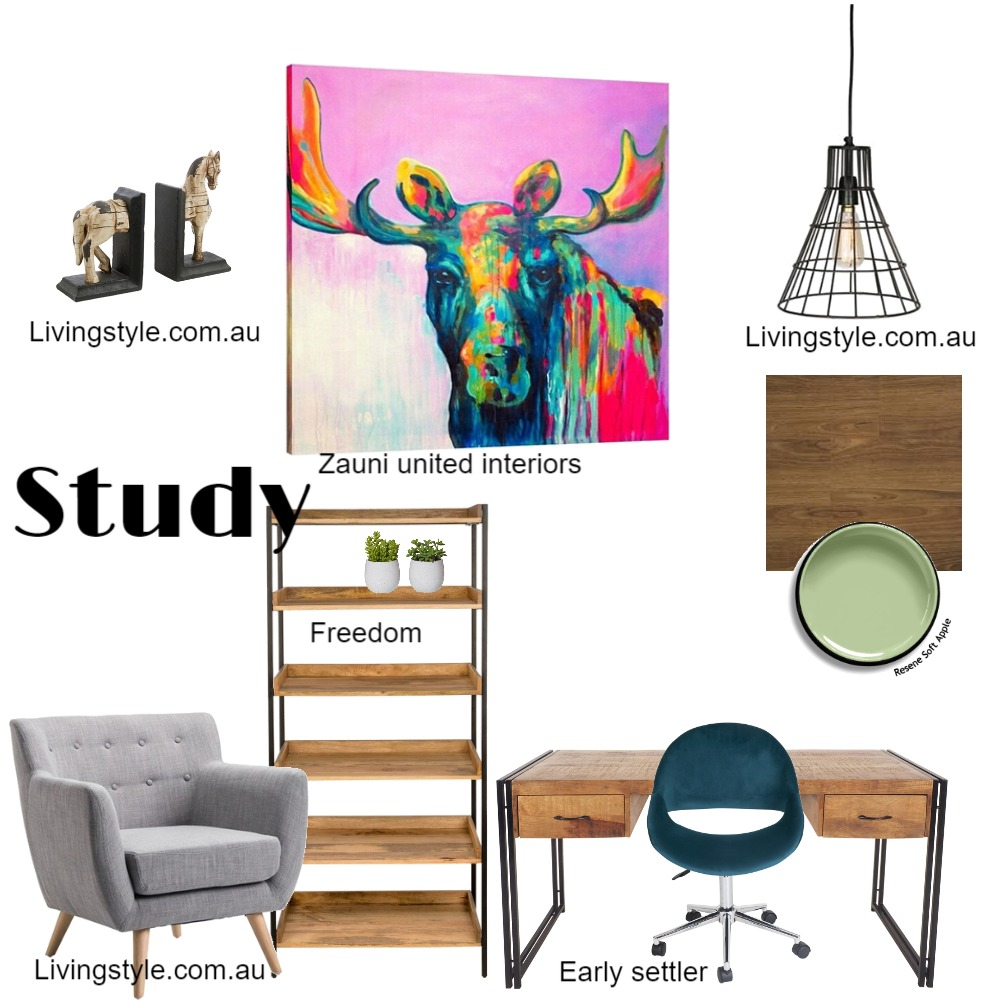 study Mood Board by Melissa.guzzardi on Style Sourcebook