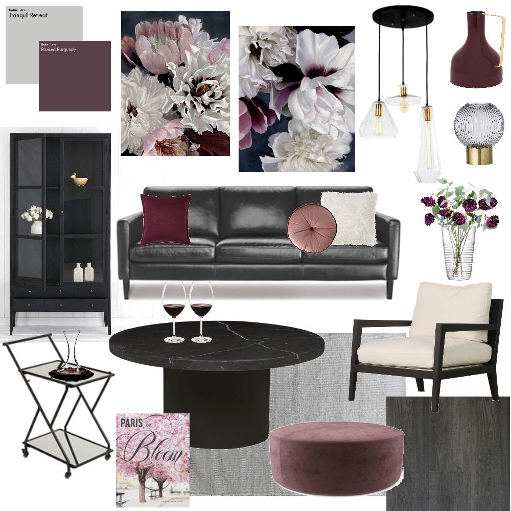 Moody Romantic Living Mood Board by Image Interiors and Design on Style Sourcebook