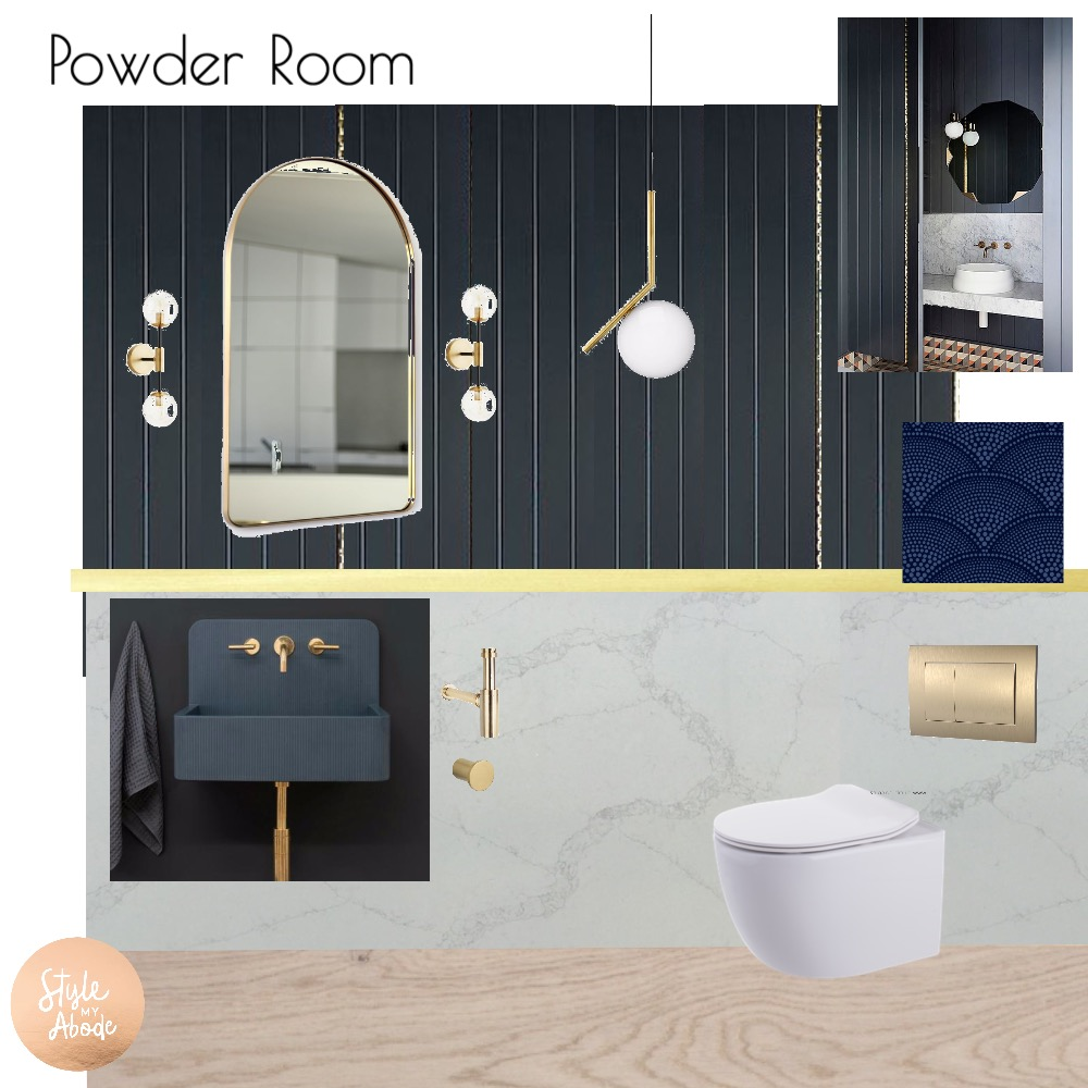 Luxe Powder Room Mood Board by Style My Abode Ltd on Style Sourcebook
