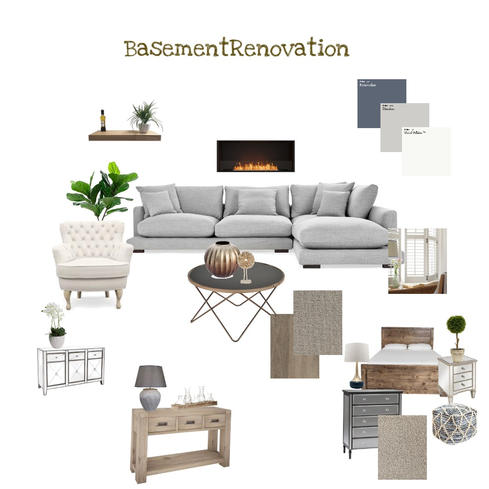 Basement remodel Interior Design Mood Board by MariaAnthopoulos on Style Sourcebook