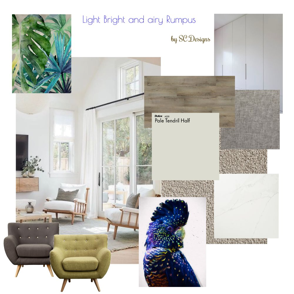 Rumpus Makeover Mood Board by SueComber on Style Sourcebook