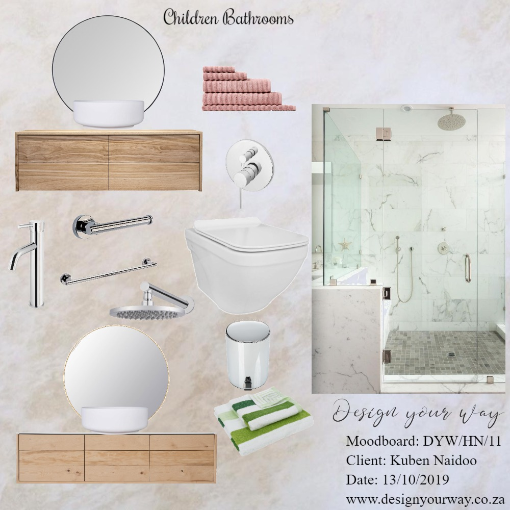 House Naidoo - Children Bathrooms Mood Board by Mariska Steenkamp on Style Sourcebook