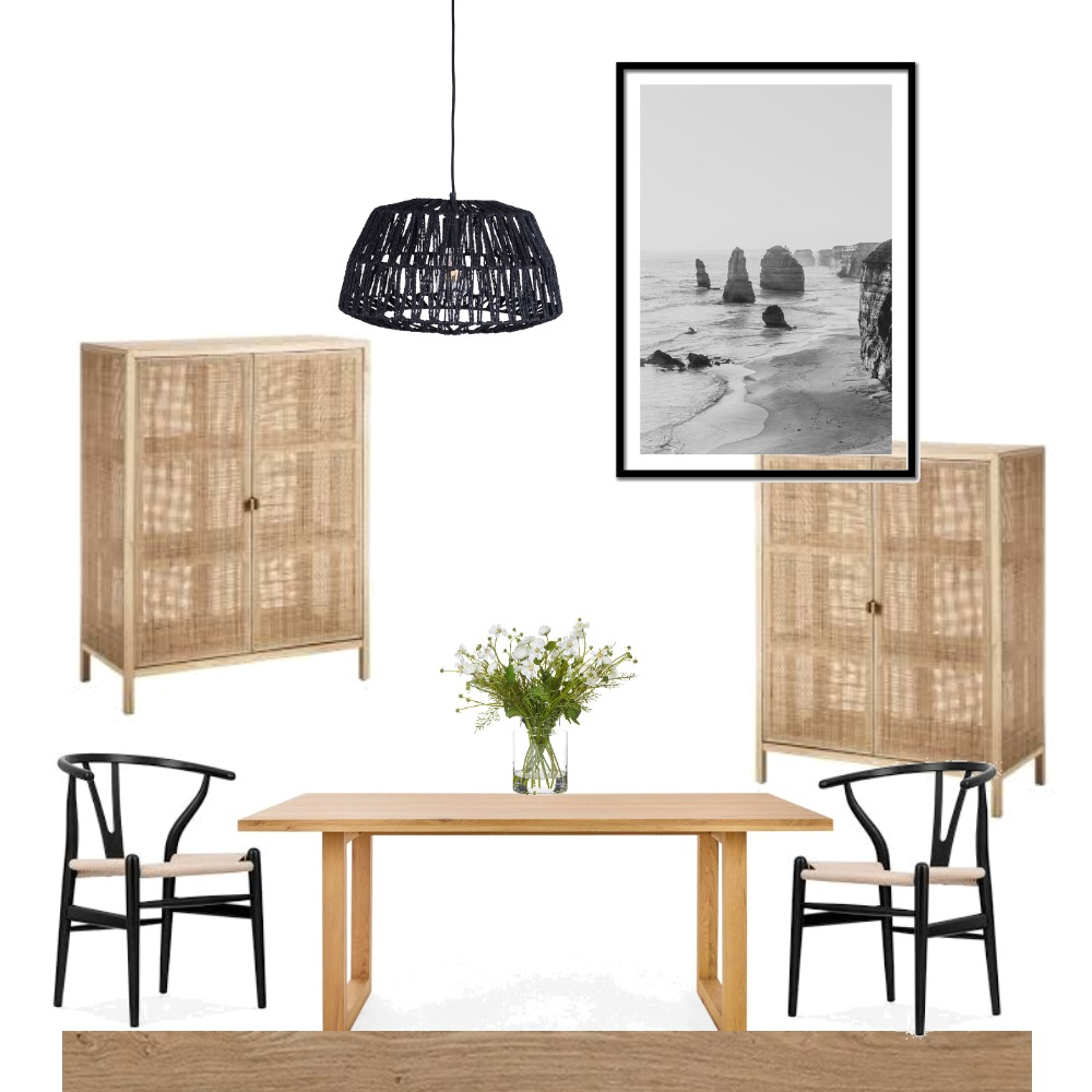Dining black natural Mood Board by melissabailey on Style Sourcebook