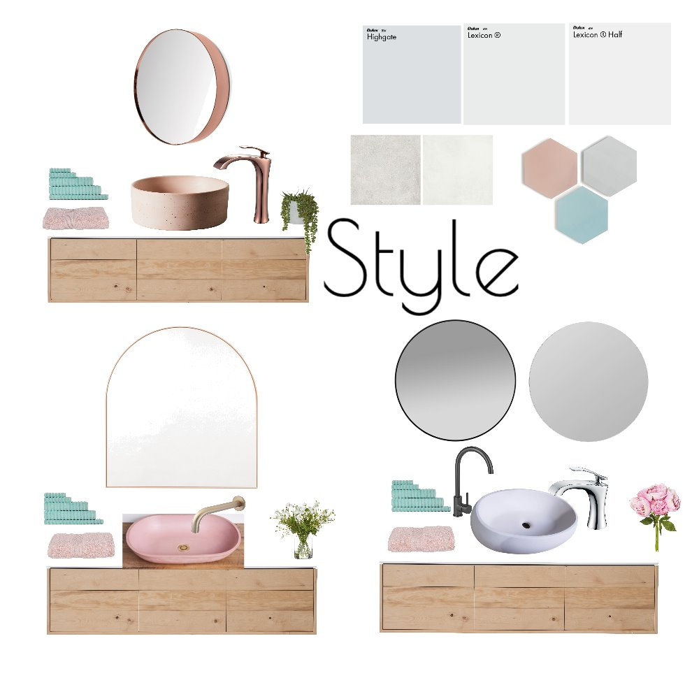 Ensuite x 3 Mood Board by SarahPilko on Style Sourcebook
