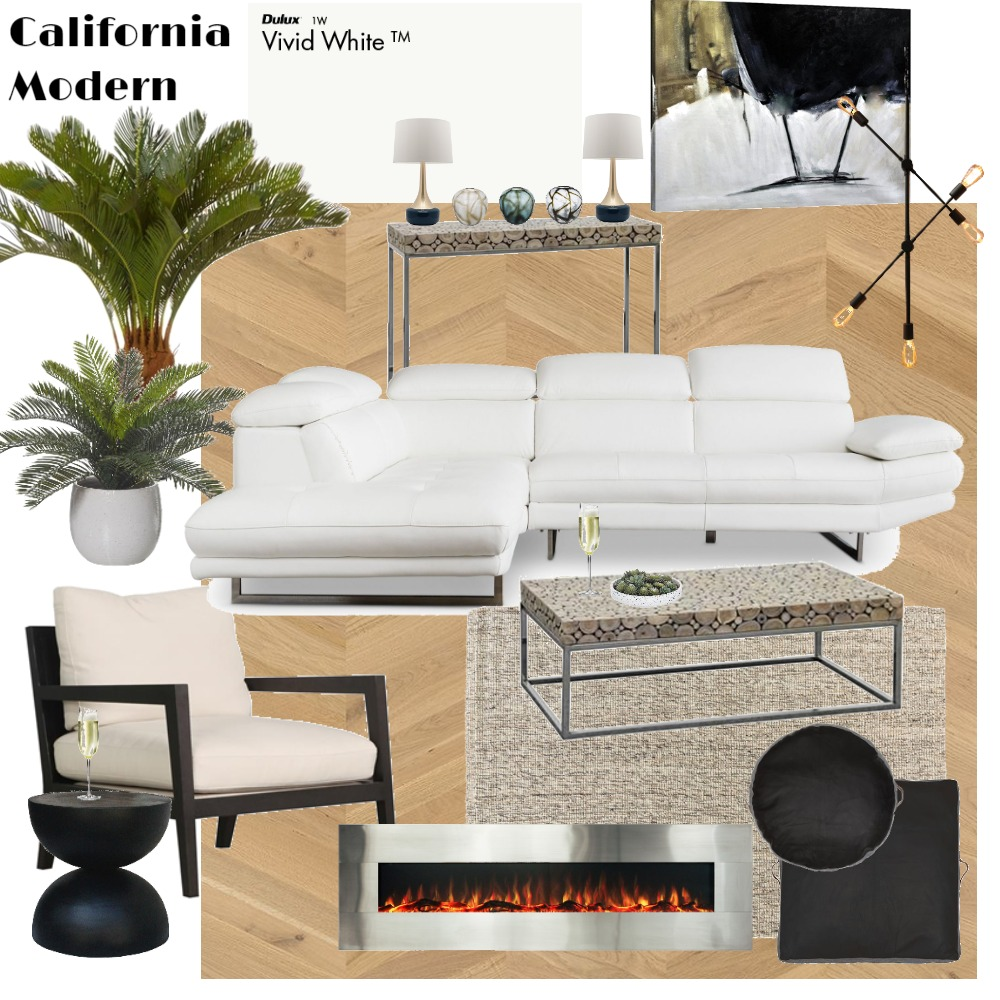 Living California Modern Interior Design Mood Board by Jo Laidlow on Style Sourcebook