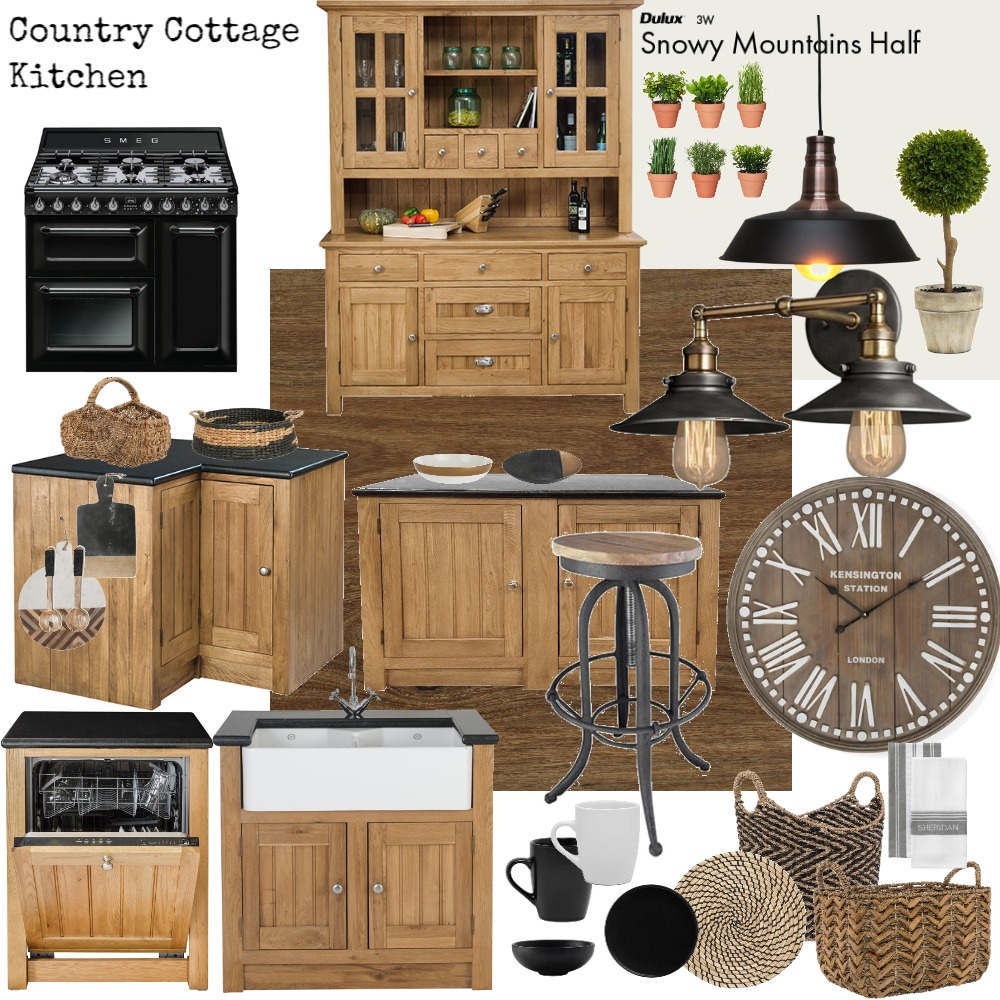 Country Cottage Kitchen Mood Board by Jo Laidlow on Style Sourcebook