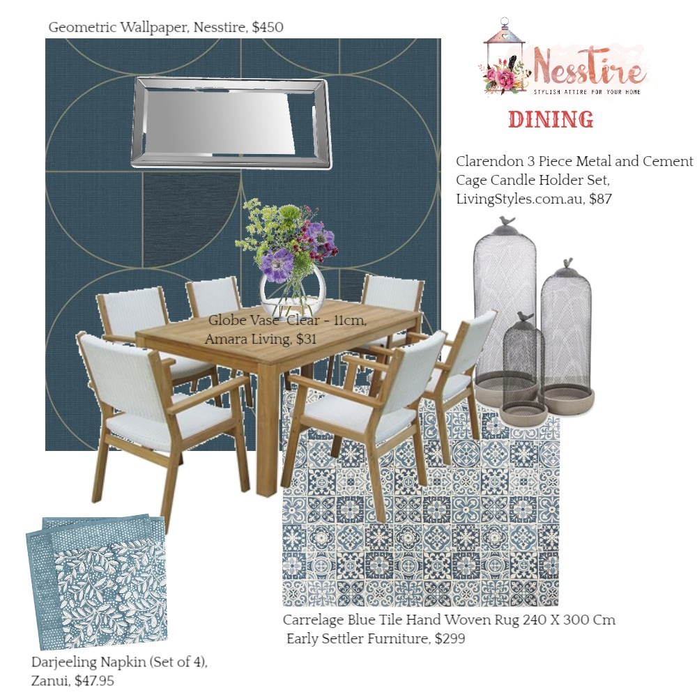 DINING-01 Mood Board by nesstire on Style Sourcebook