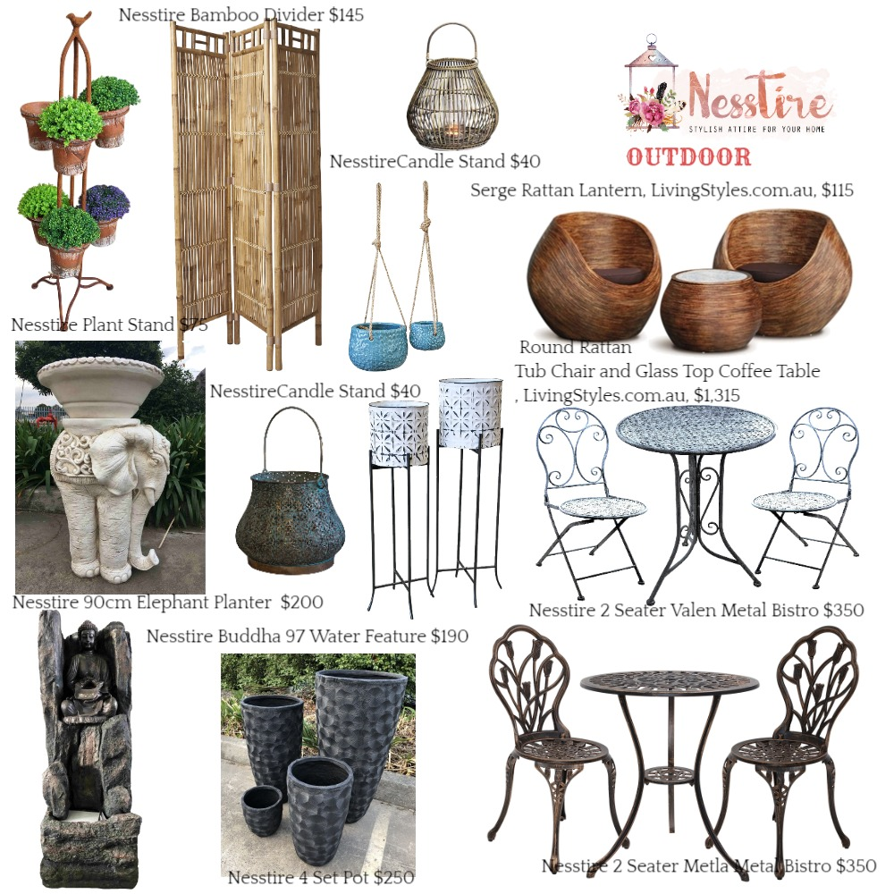 OUTDOOR Mood Board by nesstire on Style Sourcebook