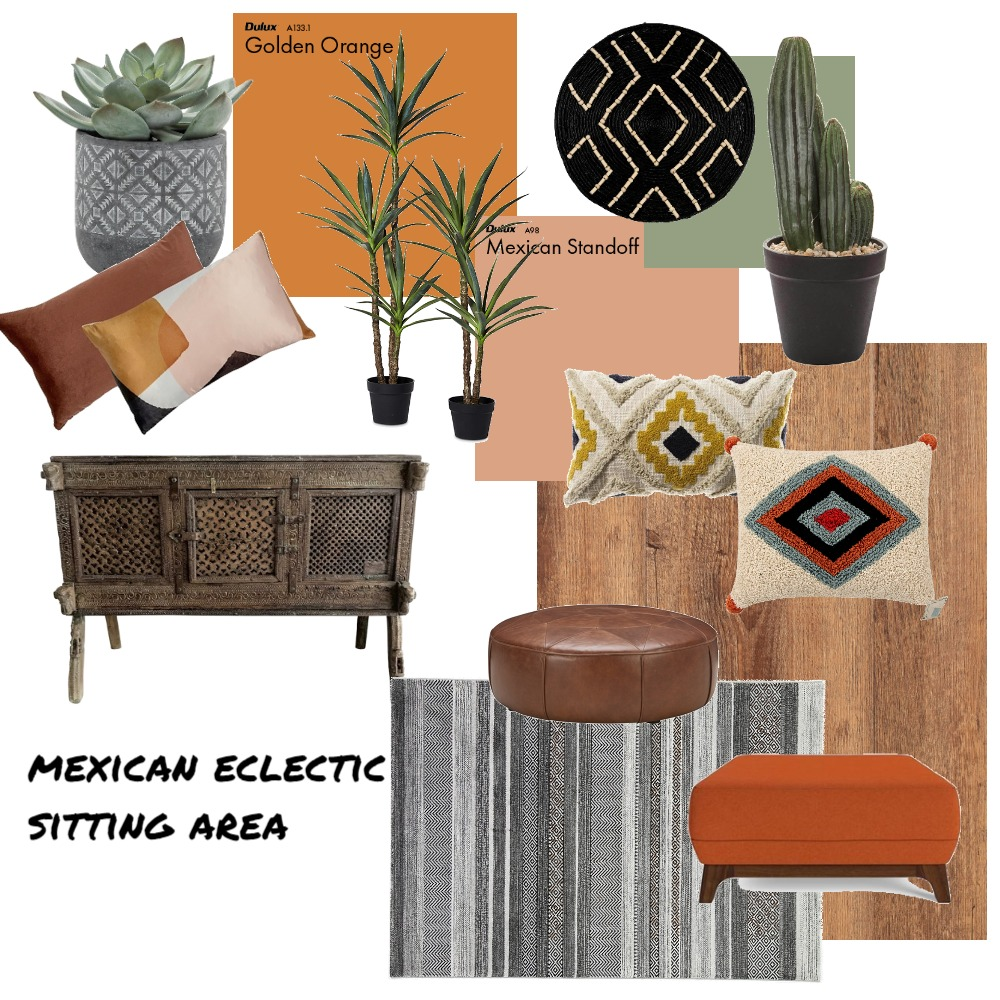 mexican eclectic sitting area Mood Board by The Eye Interiors on Style Sourcebook