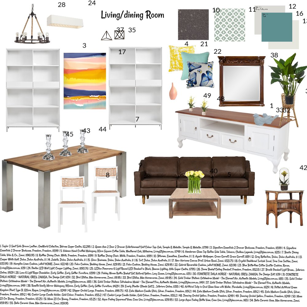 LIVING/ DINNING ROOM Mood Board by lyndee on Style Sourcebook