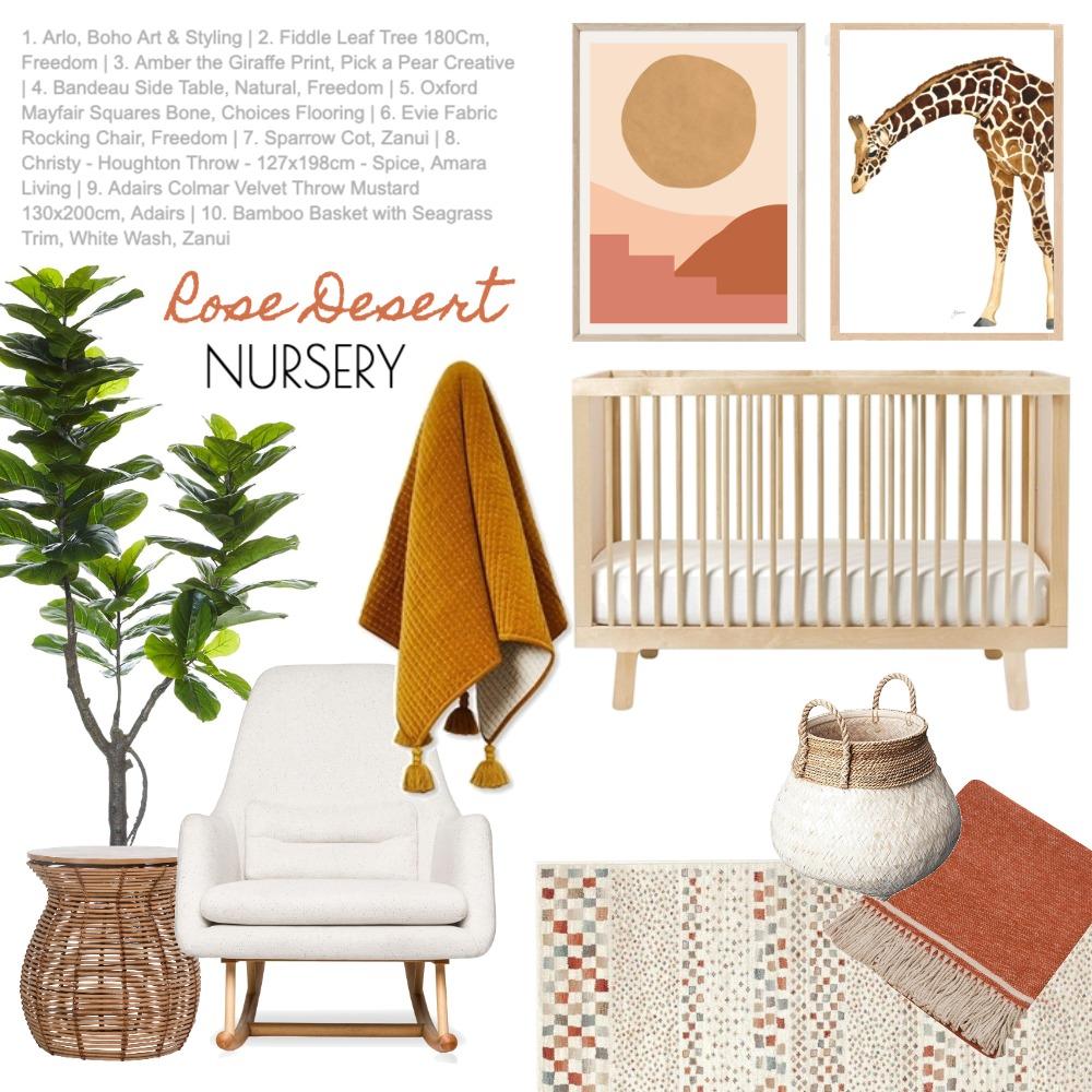 Rose Desert Nursery Mood Board by Kingfisher Bloom Interiors on Style Sourcebook