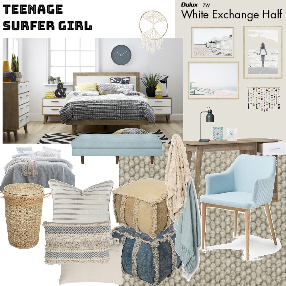 Teenage Surfer Girl Bedroom Mood Board by Jo Laidlow on Style Sourcebook