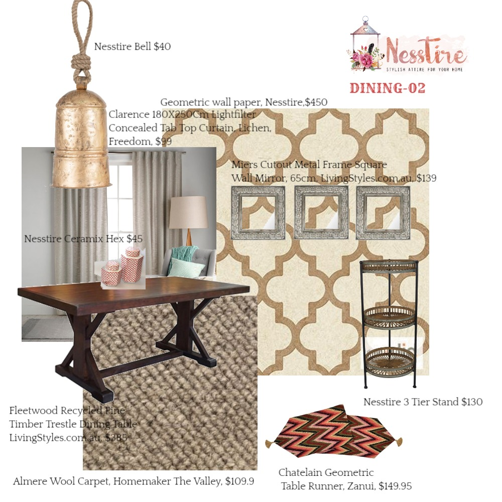 DINNING-02 Mood Board by nesstire on Style Sourcebook