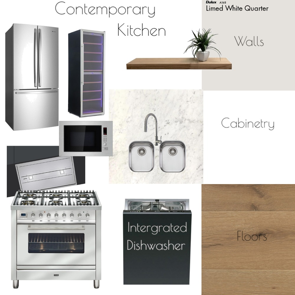 Kitchen Contemporary Interior Design Mood Board by Jo Laidlow on Style Sourcebook