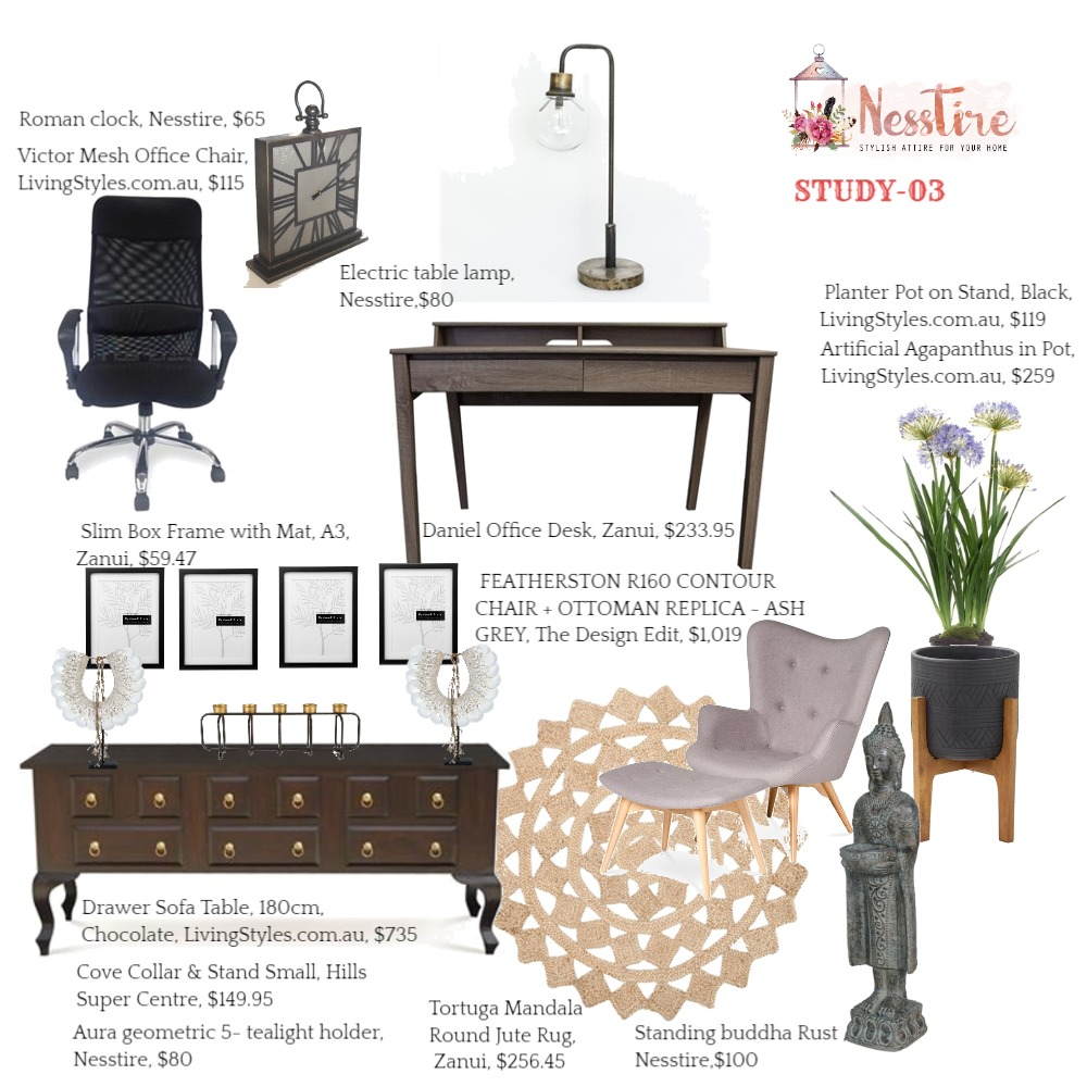 STUDY-03 Interior Design Mood Board by nesstire on Style Sourcebook