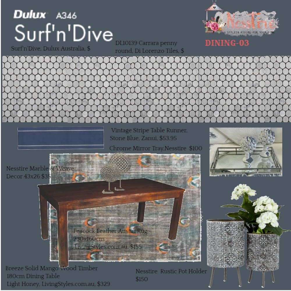 DINING-03 Mood Board by nesstire on Style Sourcebook