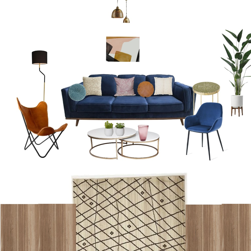 blue sofa living room Mood Board by lamicious on Style Sourcebook