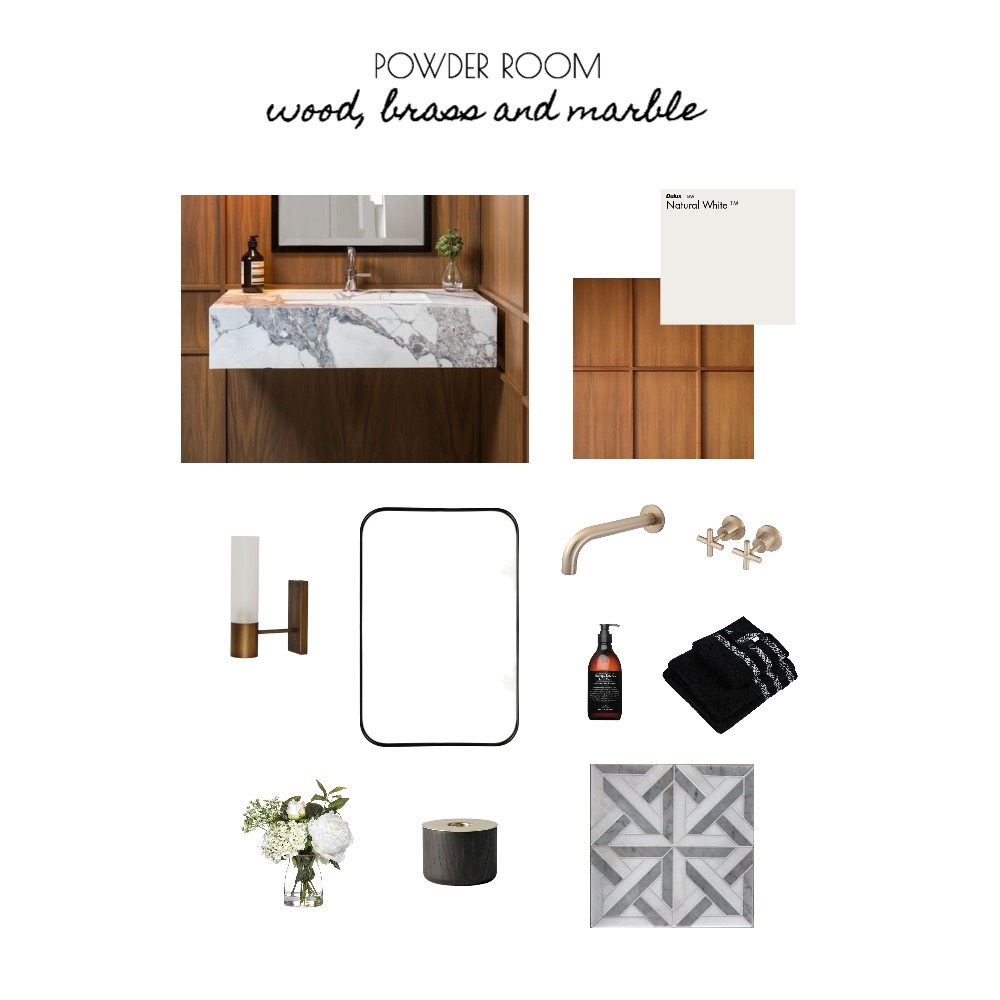 Powder Room Mood Board by RPressDesign on Style Sourcebook