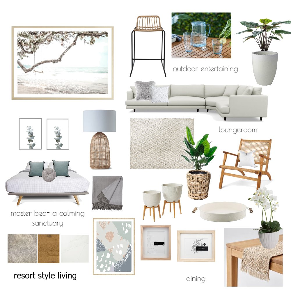 resort style living Mood Board by The Property Stylists and Co on Style Sourcebook