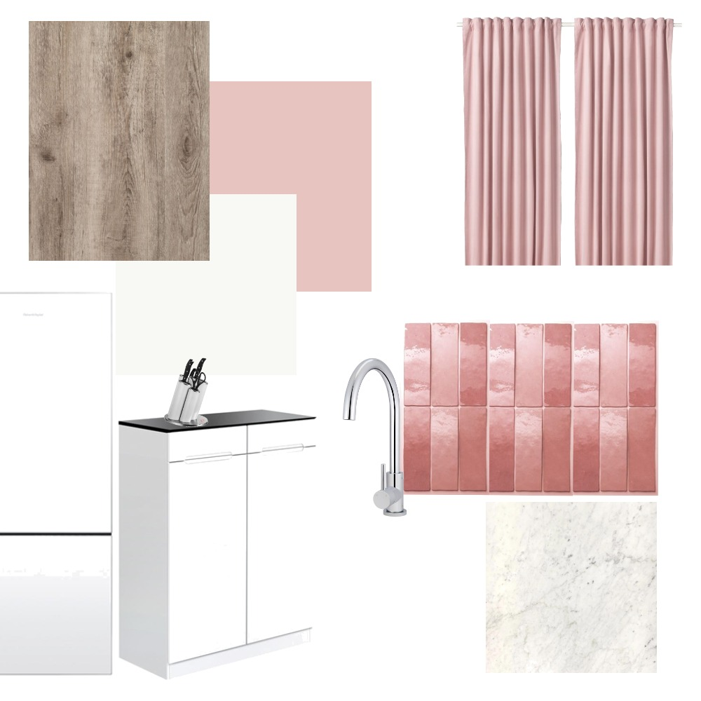 white-pink kitchen Mood Board by Holi Home on Style Sourcebook