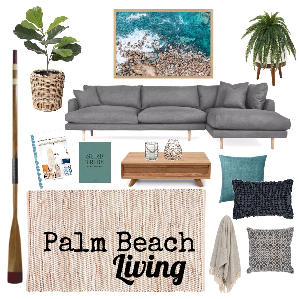 Palm Beach Living room Mood Board by salt.sage.stone on Style Sourcebook