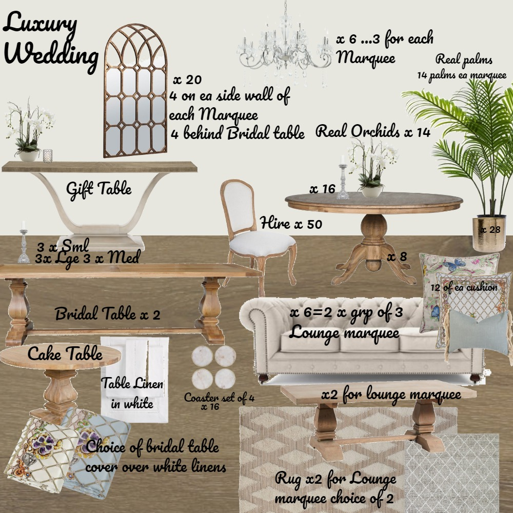 Wedding Interior Design Mood Board by Jo Laidlow on Style Sourcebook