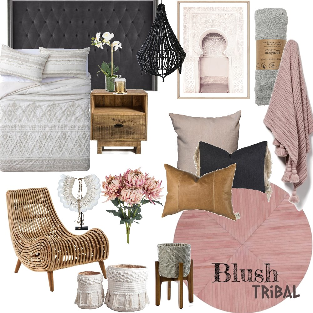 Blush Tribal Interior Design Mood Board by MiraDesigns on Style Sourcebook