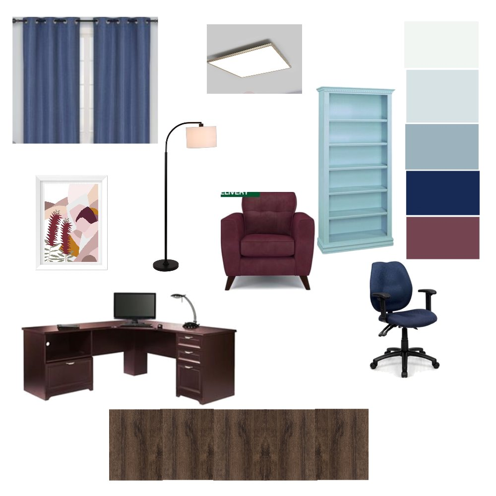 Study Room Interior Design Mood Board by ElenaZ on Style Sourcebook