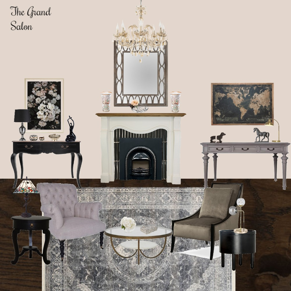 The Grand Salon Interior Design Mood Board by Jo Laidlow on Style Sourcebook