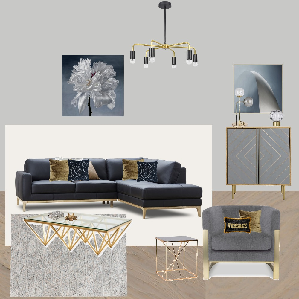 Living Brass Accents Interior Design Mood Board by Jo Laidlow on Style Sourcebook