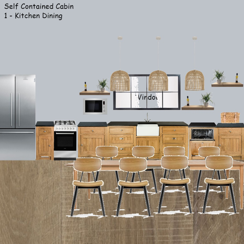 Self Contained cabin 1 Kitchen Dining Interior Design Mood Board by Jo Laidlow on Style Sourcebook