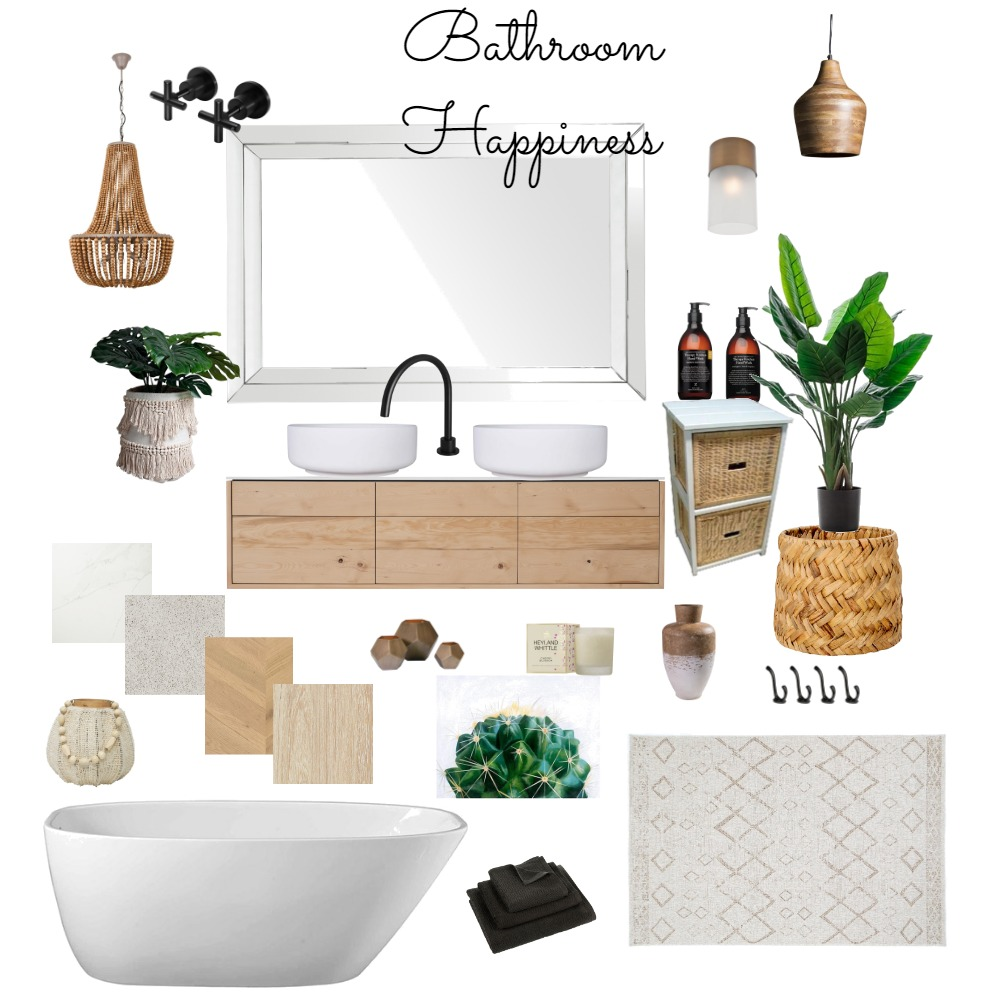 Bathroom Happiness Interior Design Mood Board by BonnieBella on Style Sourcebook