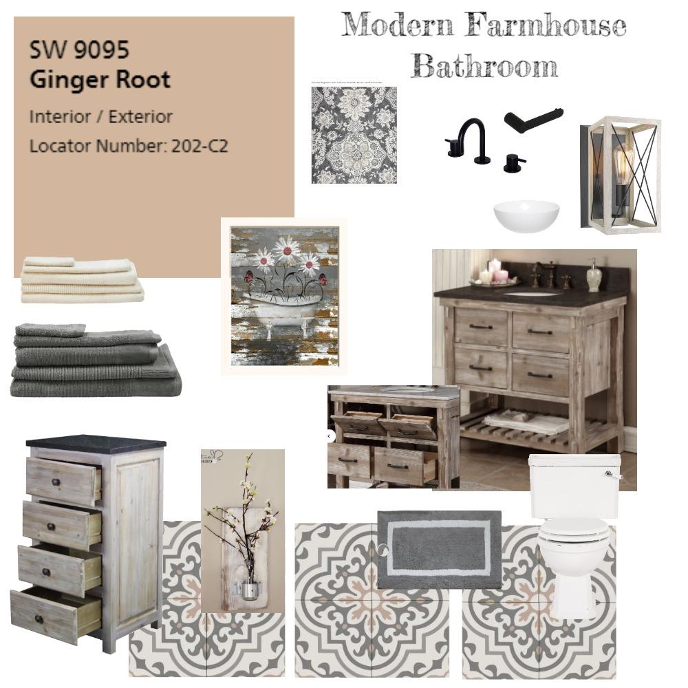 Modern Farmhouse Bathroom Interior Design Mood Board by StephanieNunag on Style Sourcebook