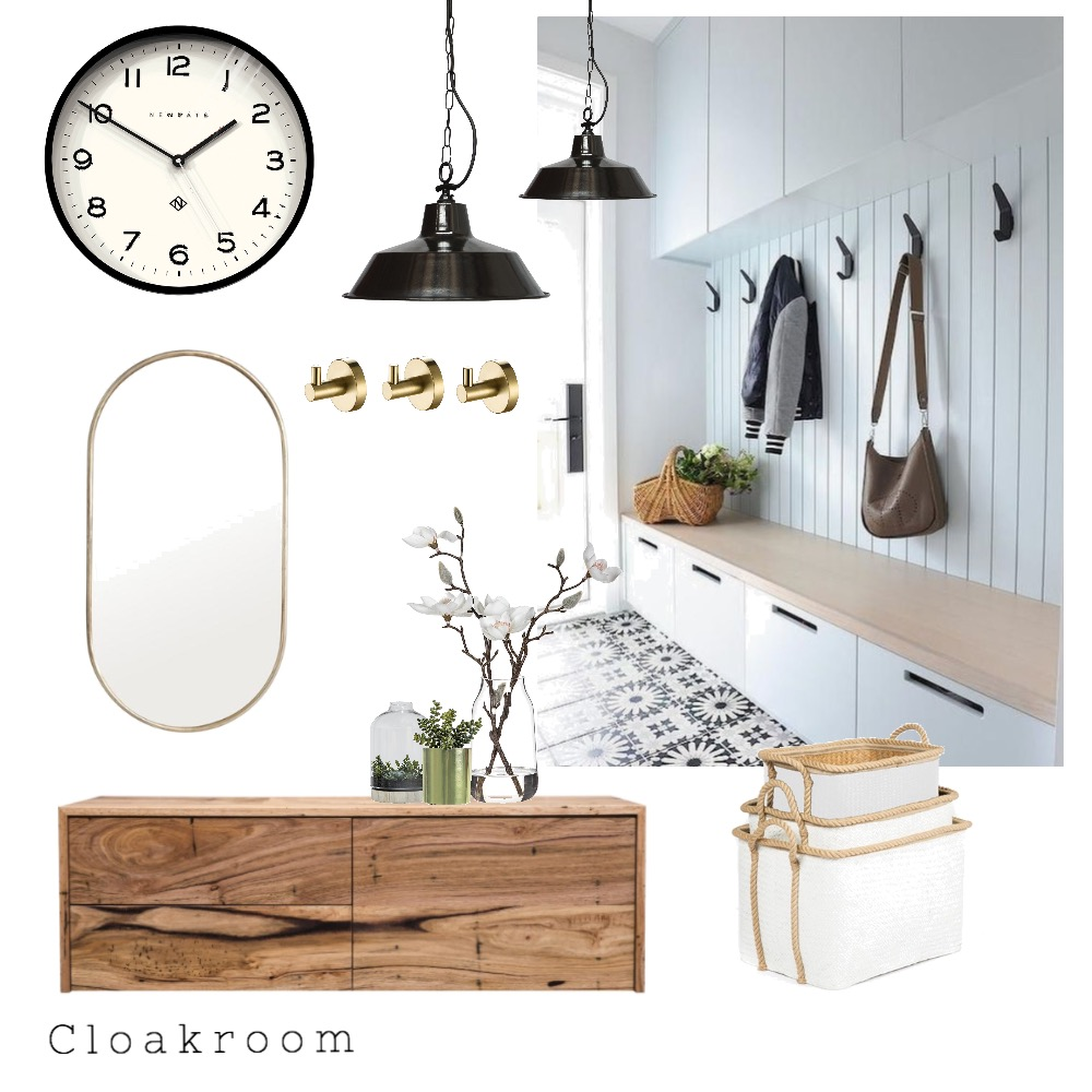 Cloakroom Interior Design Mood Board by Helene on Style Sourcebook