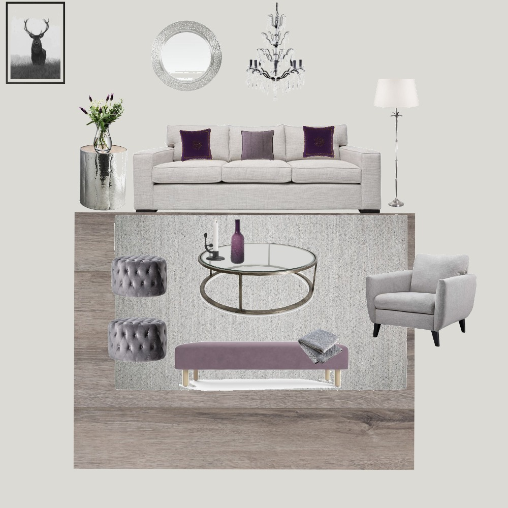 Purple Decor living room Interior Design Mood Board by Claudia on Style Sourcebook
