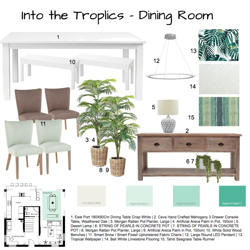 Into the Tropica Interior Design Mood Board by tracy.sa on Style Sourcebook