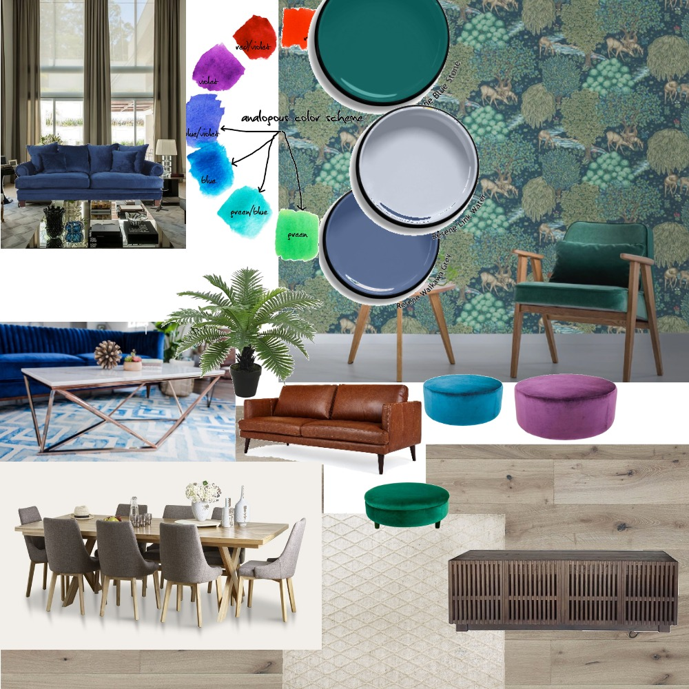 Fresh open space, entertainer Interior Design Mood Board by Meshell on Style Sourcebook