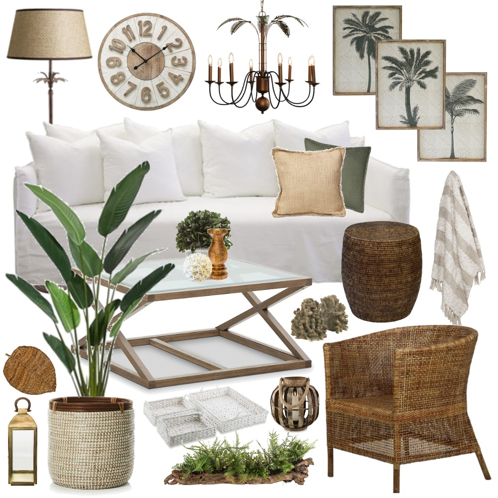 Natural Hamptons Plantation Mood Board by Thediydecorator on Style Sourcebook