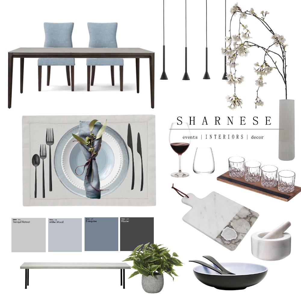 Dinner Party Interior Design Mood Board by .Sharnese Interiors. on Style Sourcebook
