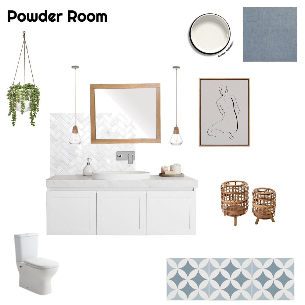 Powder Room Interior Design Mood Board by nicstyled on Style Sourcebook