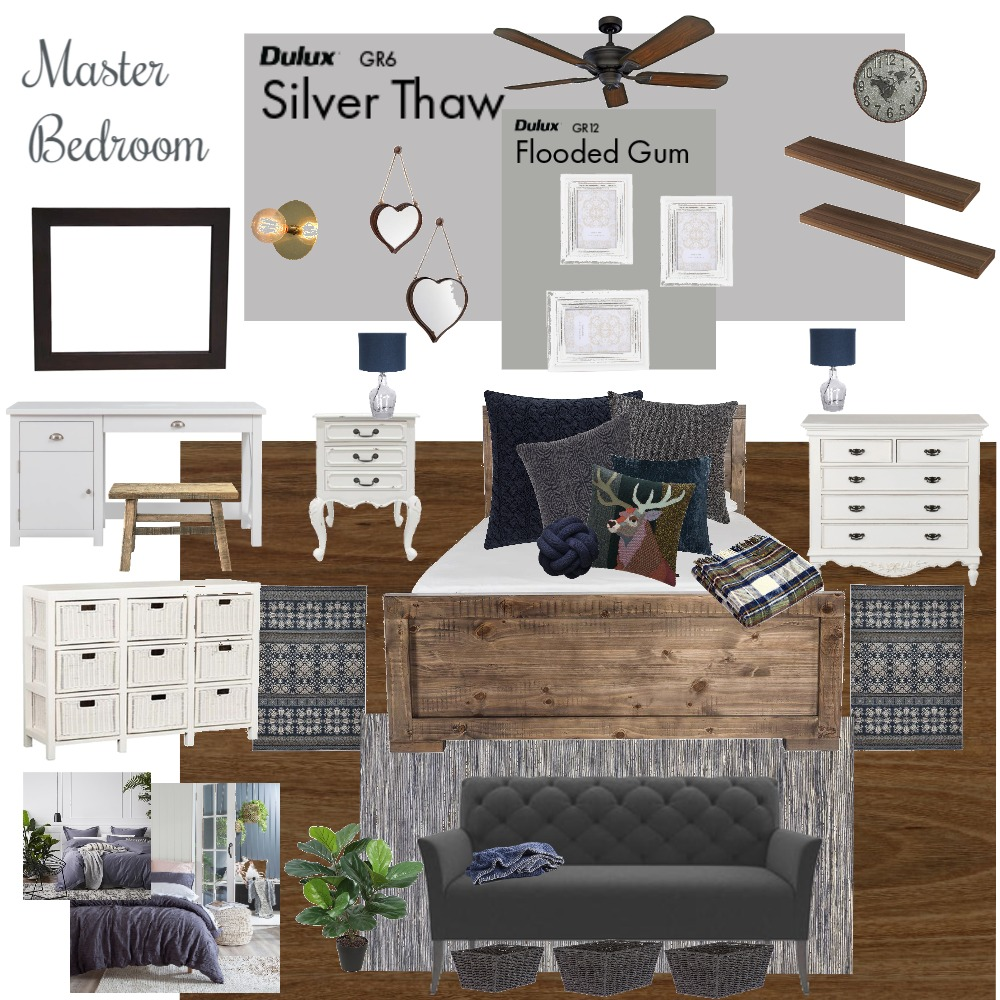 Master Bedroom Interior Design Mood Board by ZoeStudent on Style Sourcebook
