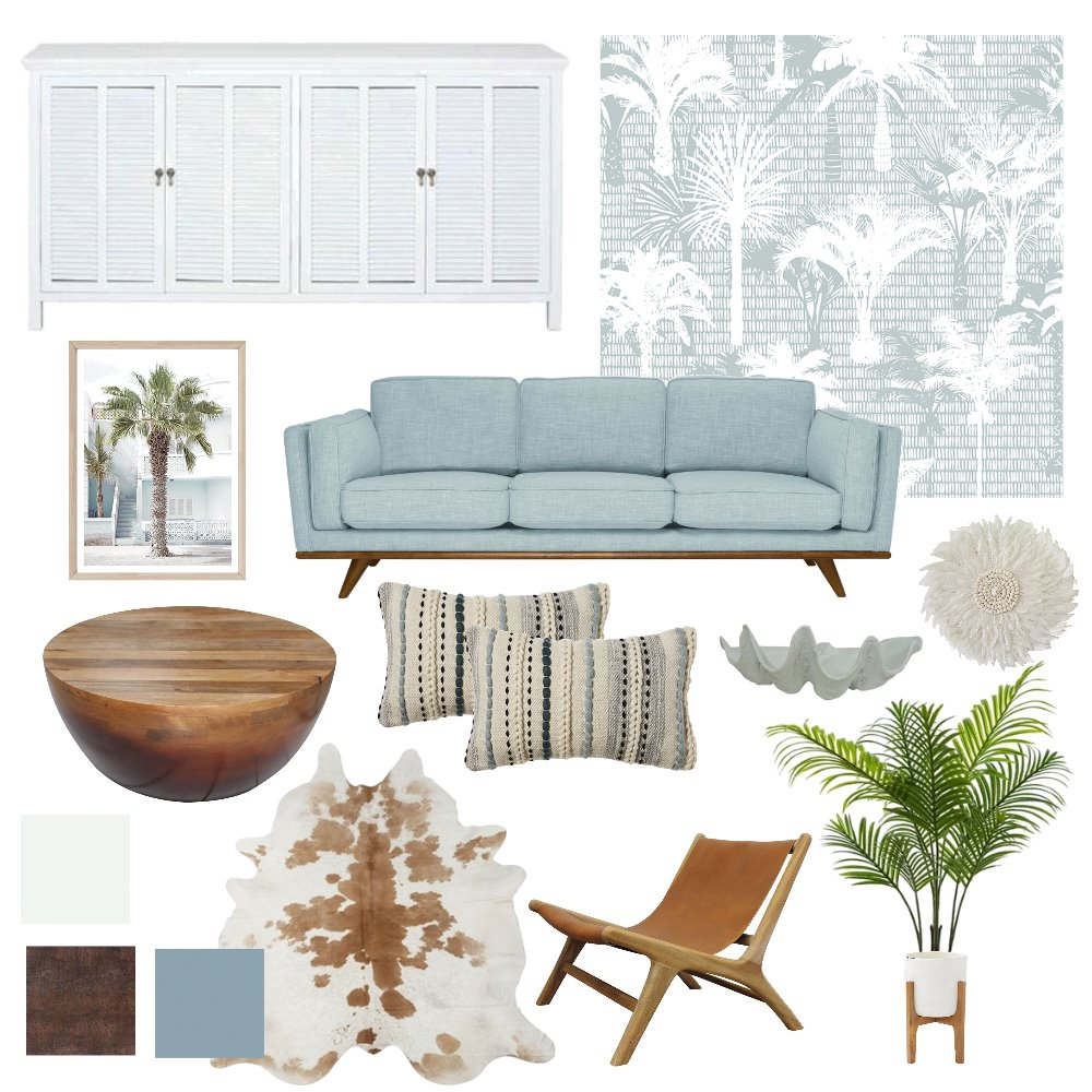 Client Mood Board - Copper Coastal Interior Design Mood Board by Silver Spoon Style on Style Sourcebook